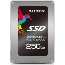 "ADATA 2.5"" SSD SATA III 256GB Solid State Disk, SP920 Premier Pro Series"