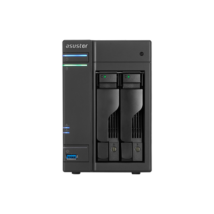 ASUSTOR NAS Storage 2 fiókos AS5102T 4x2,0Ghz, 2Gb RAM, 2x10/100/1000, 2xUSB 2.0, 3xUSB 3.0, 2xeSATA