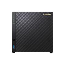ASUSTOR NAS Storage 4 fiókos AS3104T2x1,6Ghz, 2Gb RAM, 1x10/100/1000, 3x USB 3.0
