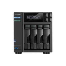 ASUSTOR NAS Storgae 4 fiókos AS6204T 4x1,6Ghz, 4Gb RAM, 2x10/100/1000, 2xUSB 2.0, 3xUSB 3.0, 2xeSATA