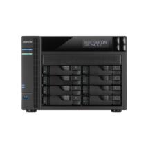 ASUSTOR NAS Storage 8 fiókos AS5108T 4x2,0Ghz, 2Gb RAM, 4x10/100/1000, 2xUSB 2.0, 3xUSB 3.0, 2xeSATA
