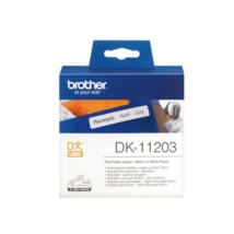 BROTHER Etikett címke DK-11203, Etikett címke/iratrendezéshez, Elővágott (stancolt), Fehér alapon fekete, 300 db