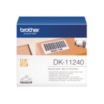 BROTHER Etikett címke DK11240, Vonalkód címke, Elővágott (stancolt), Fehér alapon fekete, 600 db