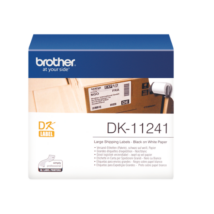 BROTHER Etikett címke DK11241, Nagy etikett címke, Elővágott (stancolt), Fehér alapon fekete, 200 db