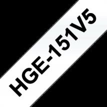 """BROTHER Festékszalag HGe-151, Átlátszó alapon Fekete, Nagy sebességű, 24mm  0.94"""", 8 méter, 5db/csomag"""