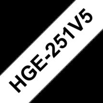 """BROTHER Festékszalag HGe-251, Fehér alapon Fekete, Nagy sebességű, 24mm  0.94"""", 8 méter, 5db/csomag"""