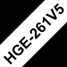 """BROTHER Festékszalag HGe-261, Fehér alapon Fekete, Nagy sebességű, 36mm  1.4"""", 8 méter, 5db/csomag"""