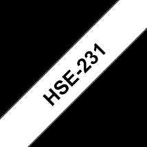 """BROTHER Festékszalag HSe-231, Fehér alapon Fekete, Zsugorcső, 11.7mm  0.46"""", 1,5 méter"""