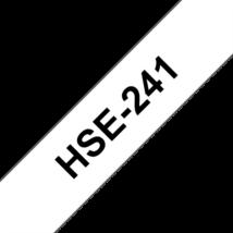 """BROTHER Festékszalag HSe-241, Fehér alapon Fekete, Zsugorcső, 17.7mm  0.69"""", 1,5 méter"""