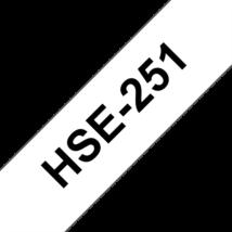 """BROTHER Festékszalag HSe-251, Fehér alapon Fekete, Zsugorcső, 23.6mm  0.93"""", 1,5 méter"""
