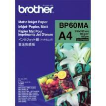 BROTHER Fotópapír BP60MA, Matt tintasugaras papír (A4 / 25 lap / 145g/m2)