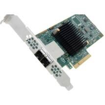 DELL szerver SAS HBA kártya, LSI 9300-8e, Dual Port, 12Gbps, FP/LP (11G-13G).