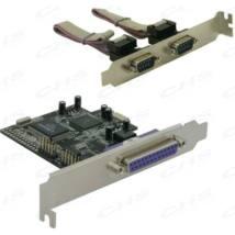 DELOCK PCI-e Bővítőkártya 2x Soros port + 1x Párhuzamos port + Low Profile