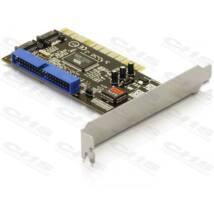 DELOCK PCI Bővítőkártya 2x SATA + 1x IDE
