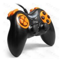 MEDIA-TECH Játékvezérlő Vezetékes Gamepad CORSAIR II, PC/PS3, Vibra, fehér