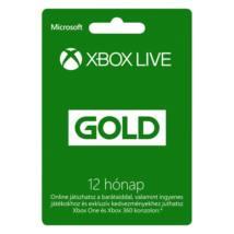 MS Feltöltő kártya Xbox360 Live 12 Havi Gold Card (Slim csomagolás)